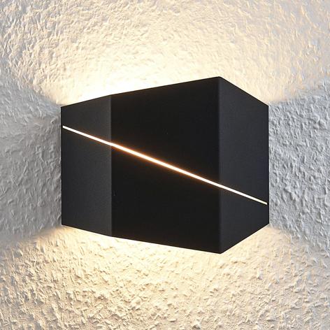 LED-Wandleuchte Nikolae, 18 cm, schwarz