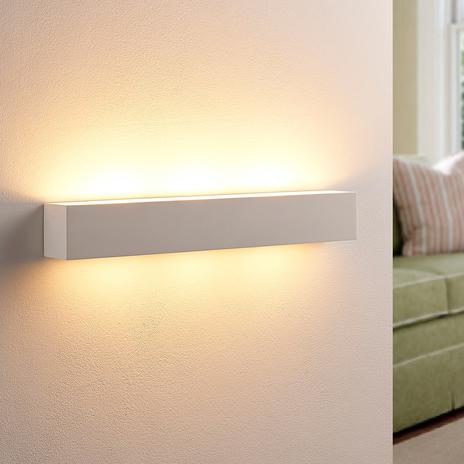 Tjada – podłużny kinkiet LED z gipsu