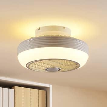 Lindby Thyron LED stropní ventilátor, bílý