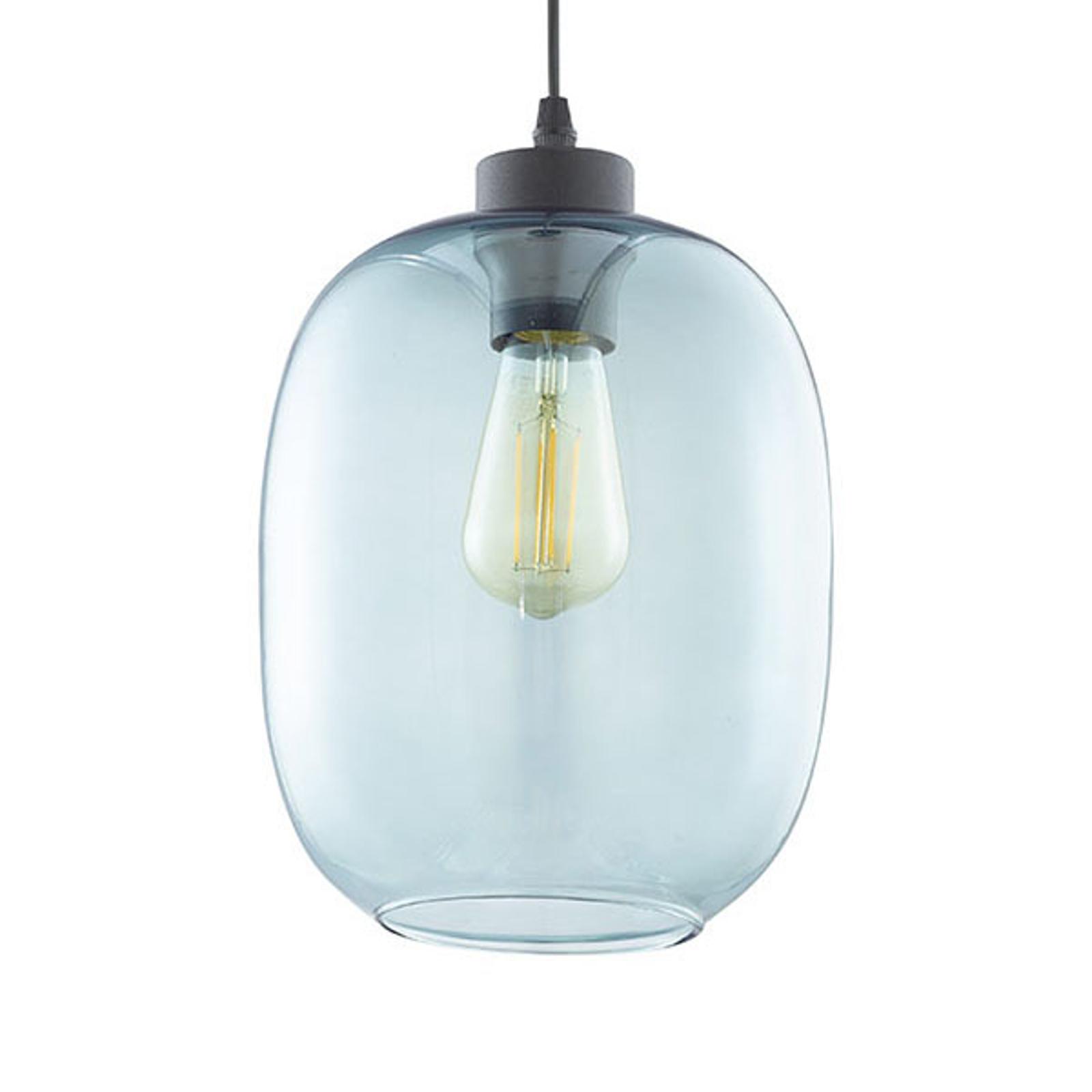 Lampa wisząca Elio, 1-punktowa, niebieska