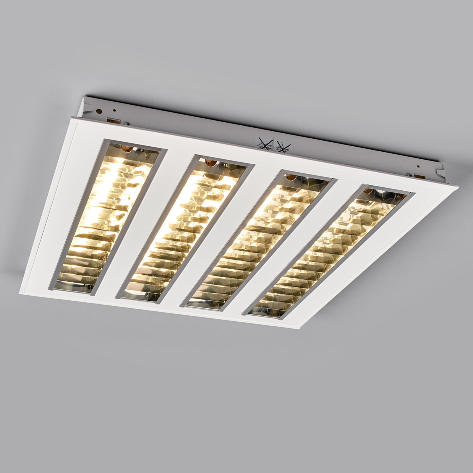 LED-raster-innfellingslampe m fire raster, 4000K