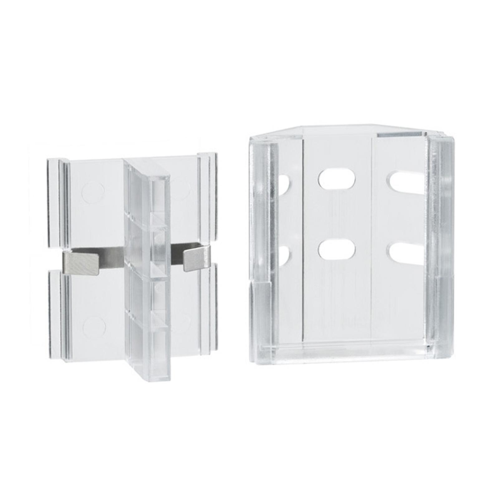 Paulmann Duo Profil Eckhalter für LED-Stripes, 2er