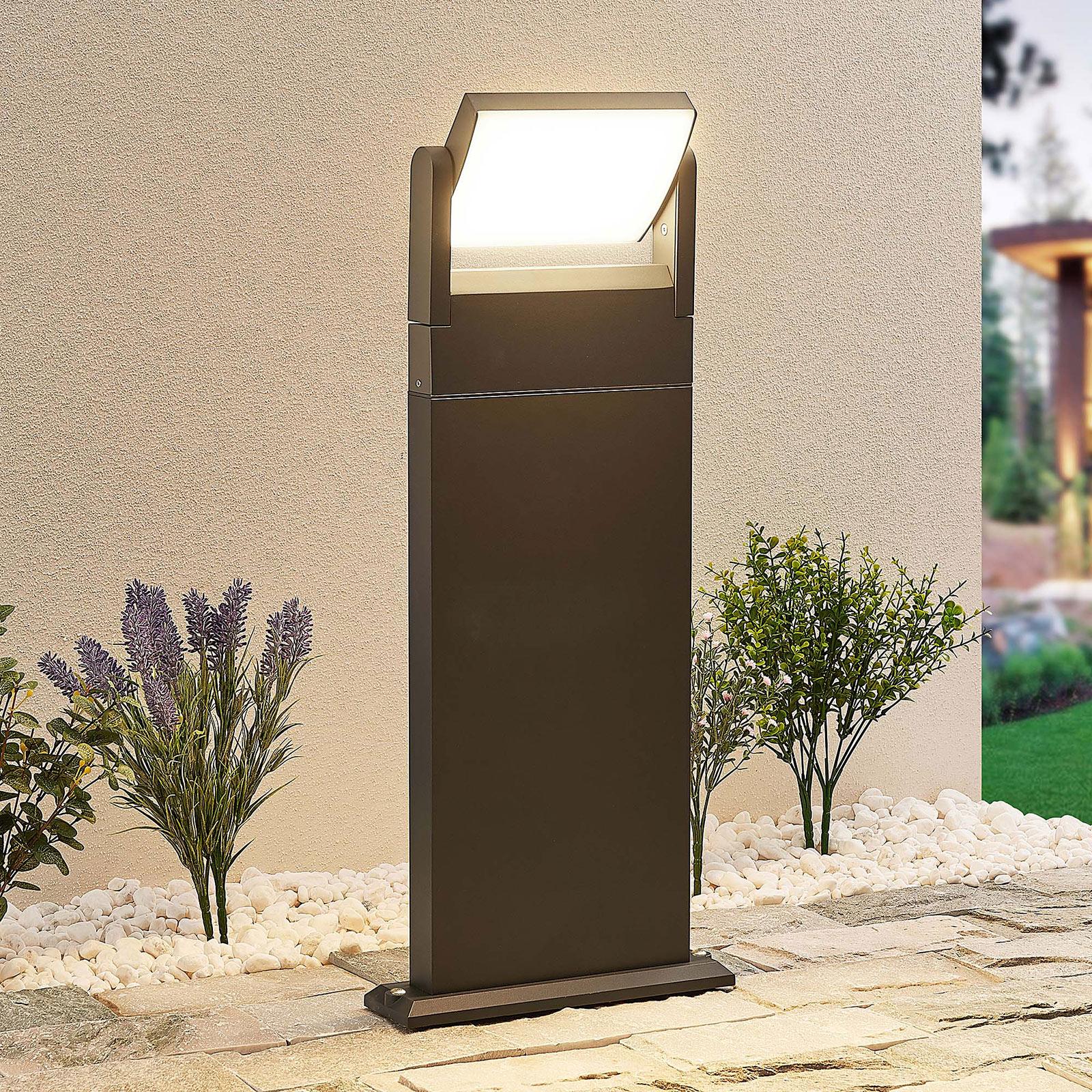 Lindby Cathalena -LED-pylväsvalaisin tummanharmaa