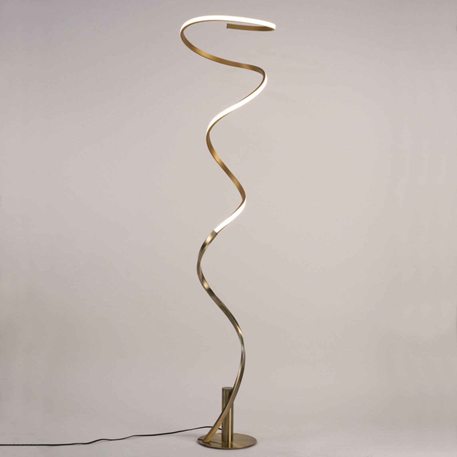 Lampa stojąca LED Helix, satyna antyczna