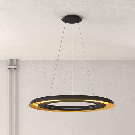 Suspension LED Shiitake, noire/dorée
