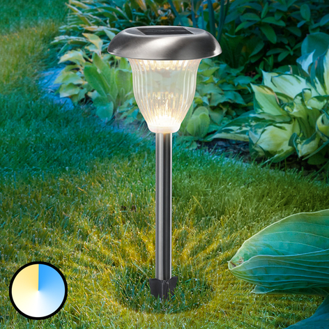 LED-Solarlampe Flower Light m. Duo-Color-Funktion