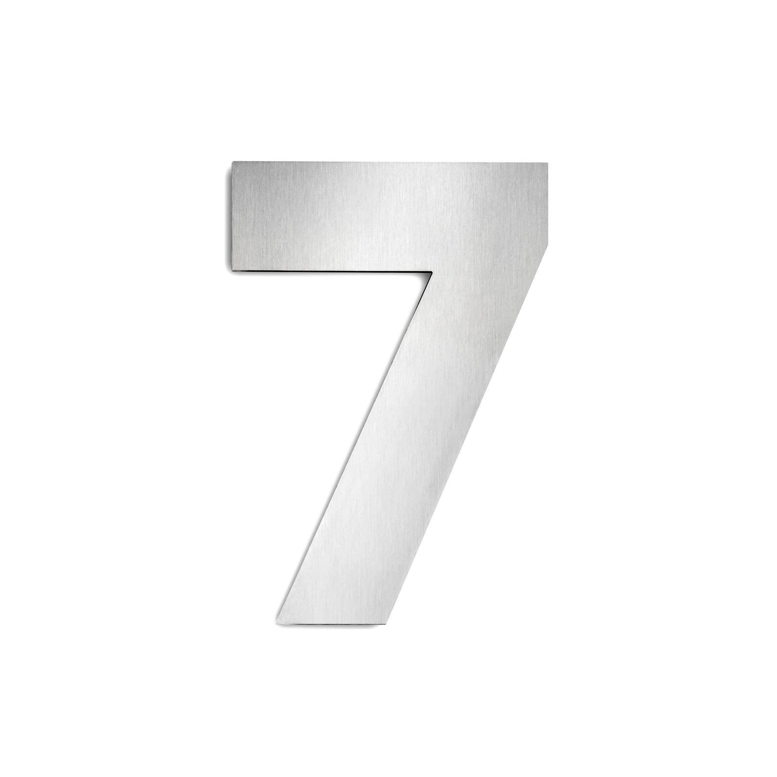 Domovní čísla z ušlechtilé oceli velikost 7