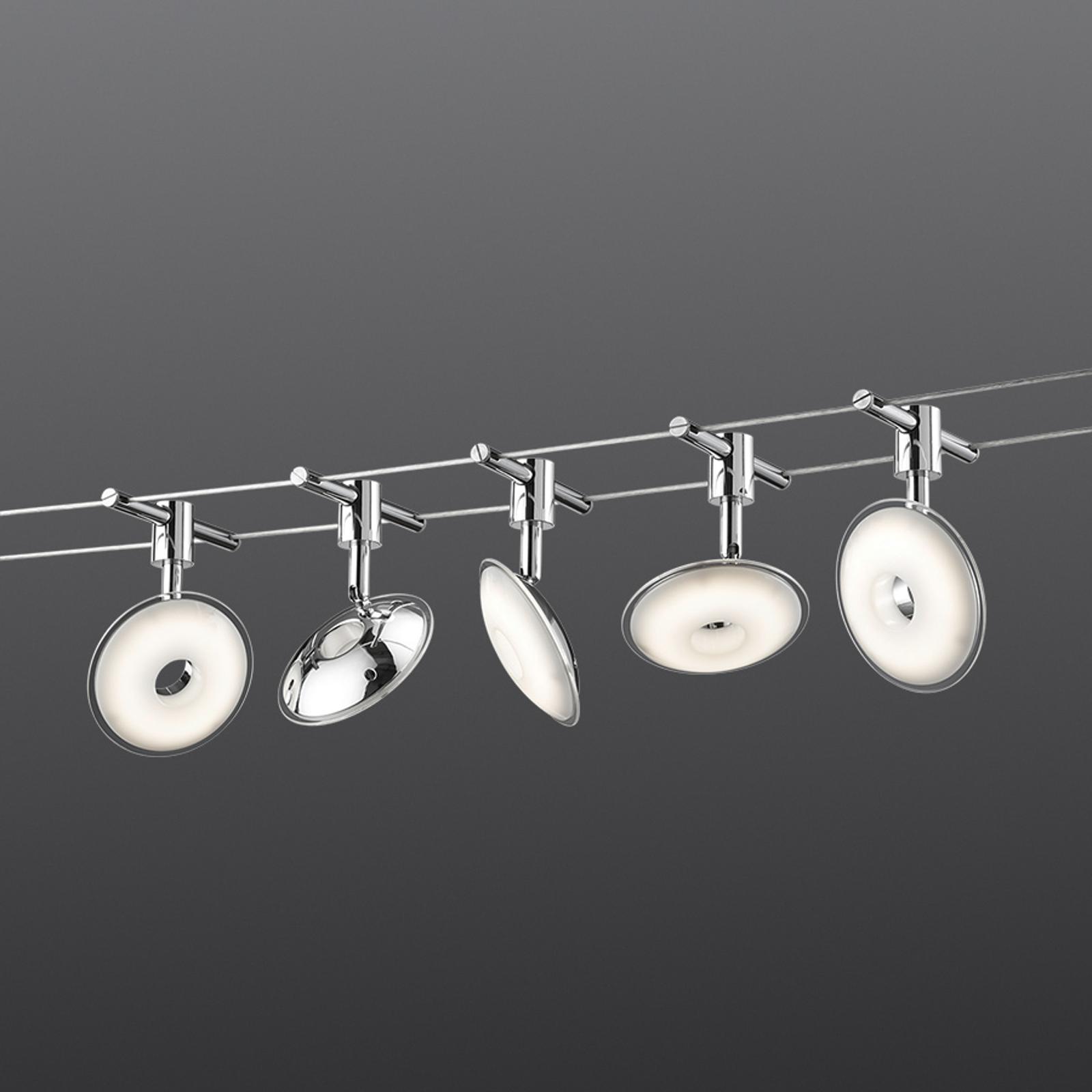 Seilsystem Pilatus mit fünf LED-Leuchten