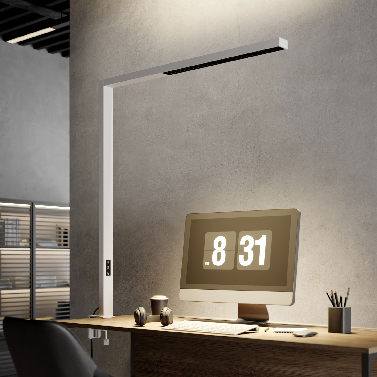 Arcchio Jolinda LED-klipsivalaisin, valkoinen