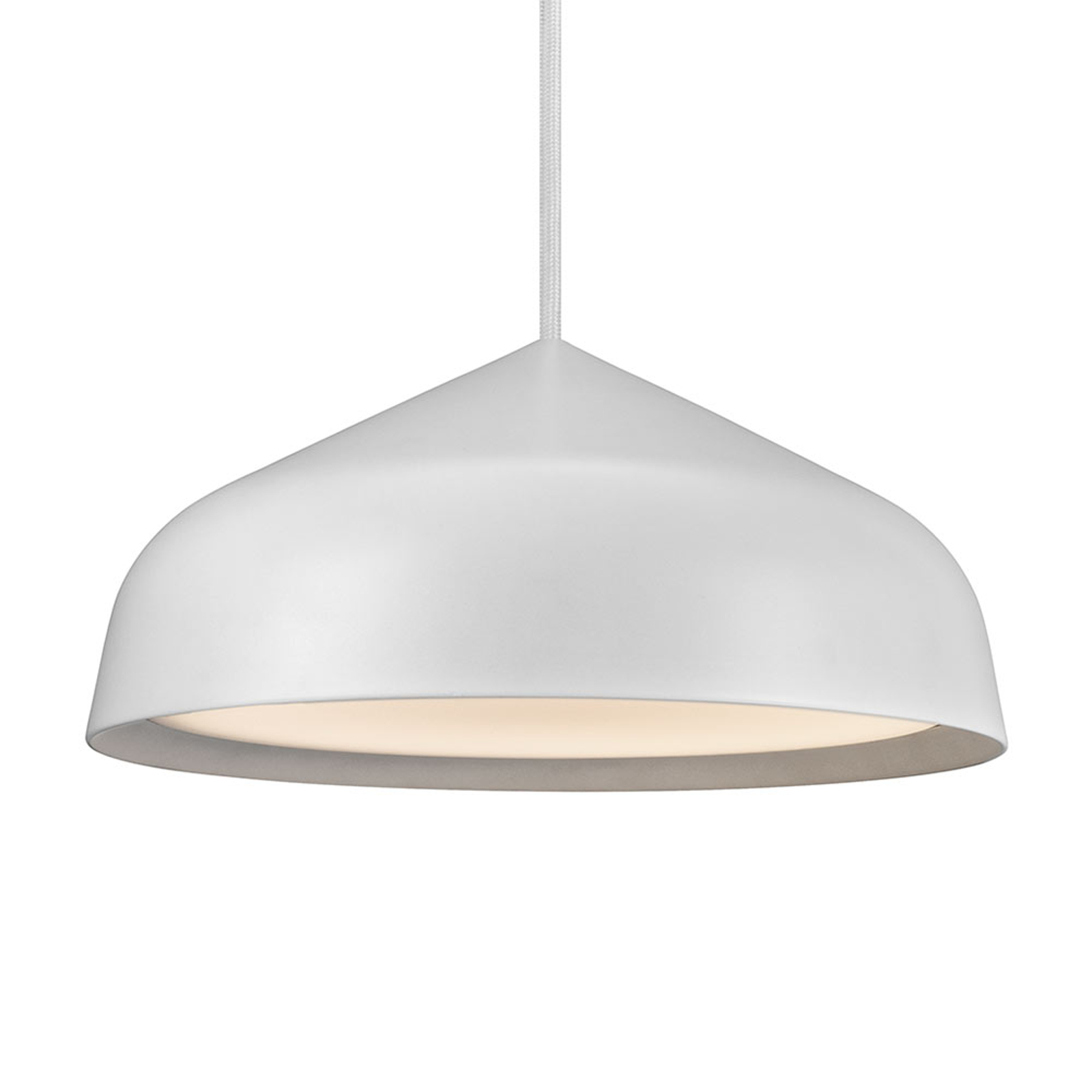 Suspension LED Fura, 25 cm, blanche