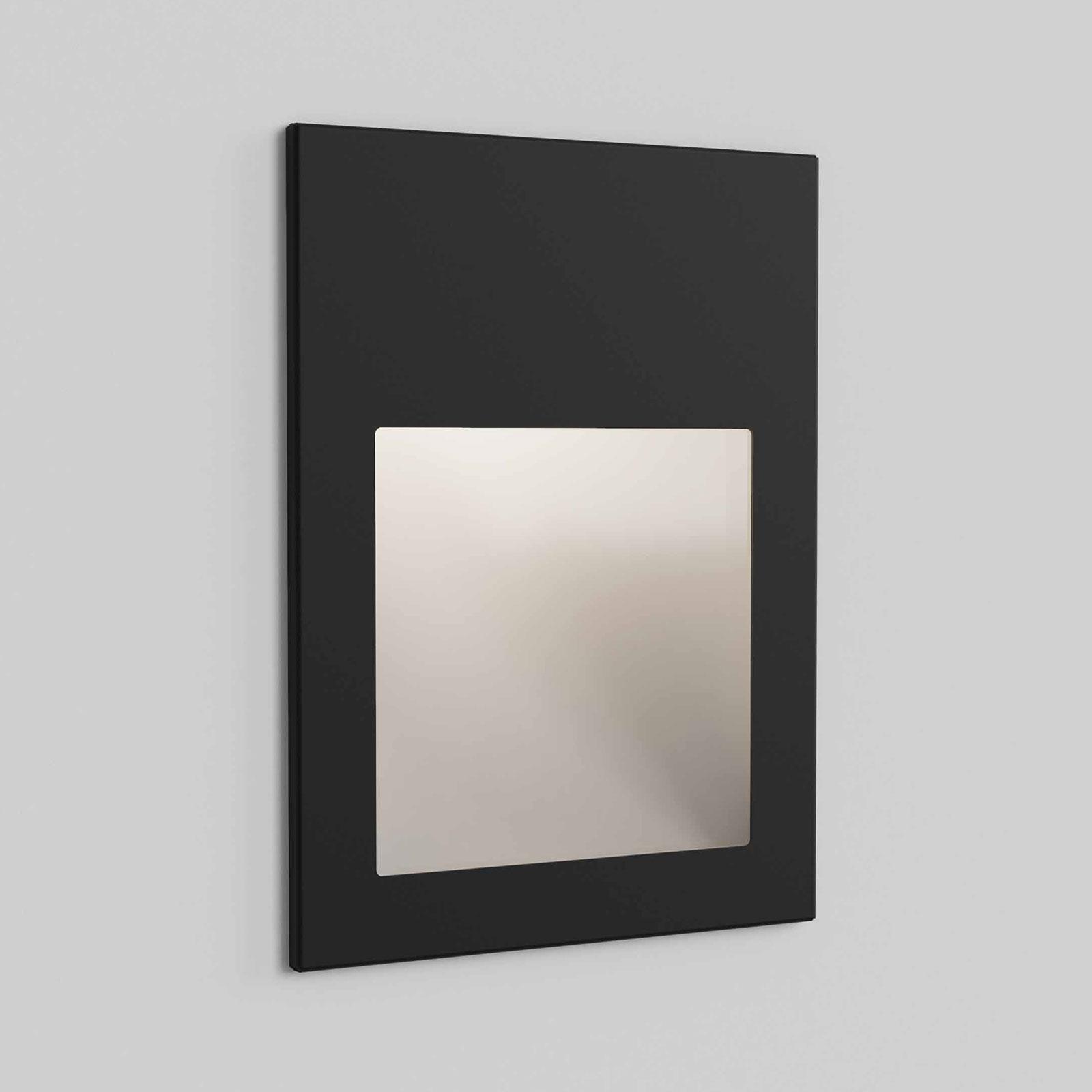 Astro Borgo 90 innfelt vegglampe, svart tekstur