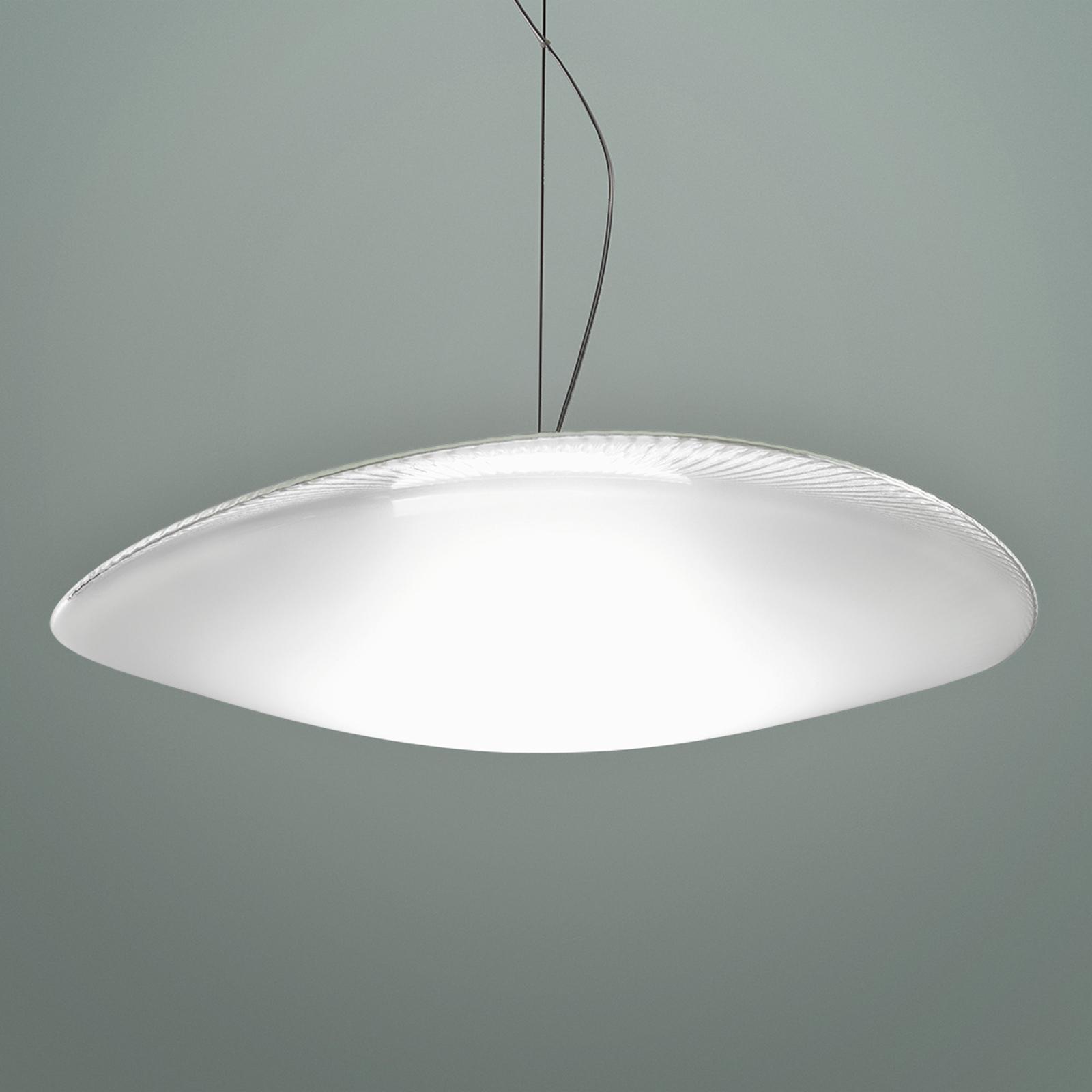 Speelse glazen hanglamp Loop met LED, 3000K