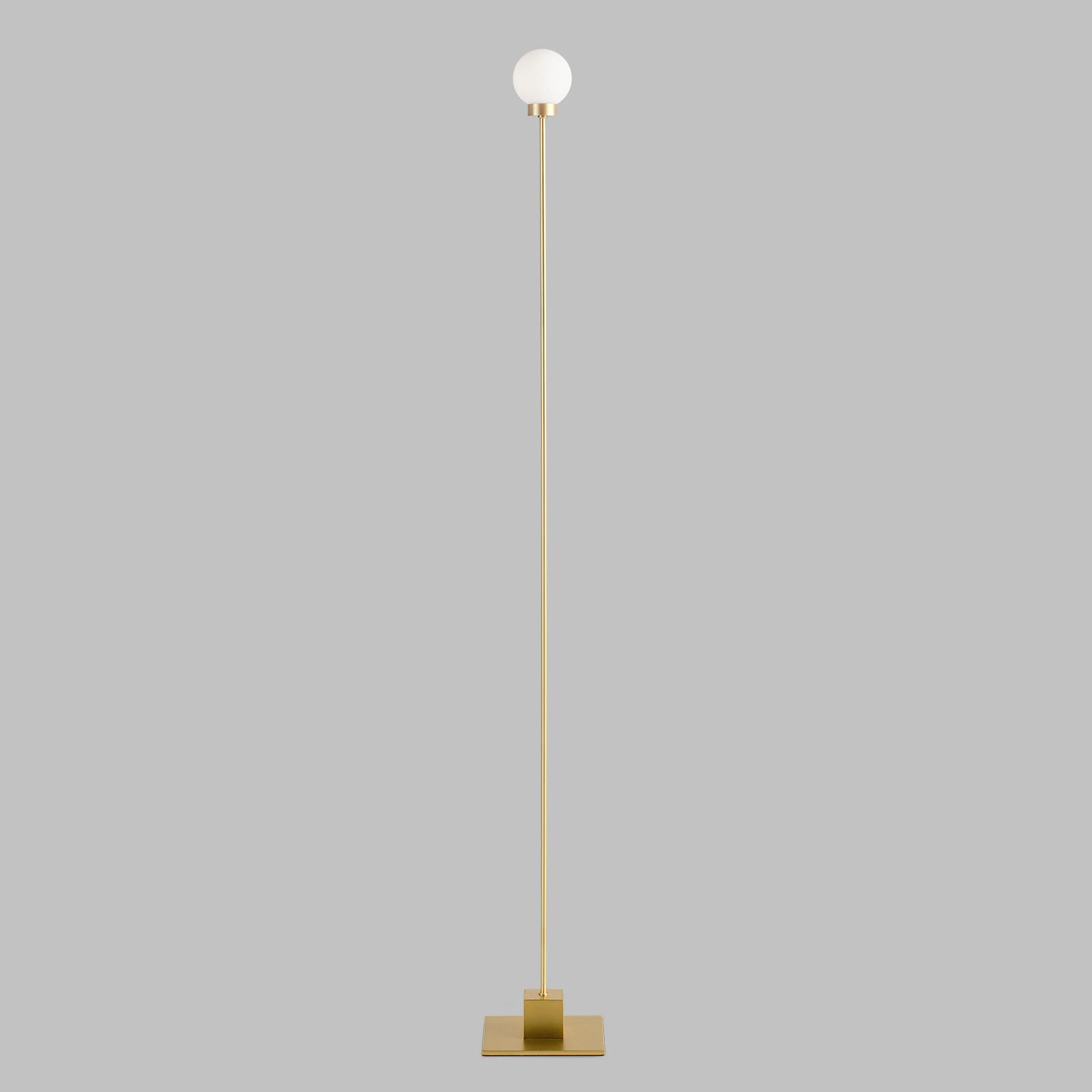 Northern Snowball vloerlamp, messing