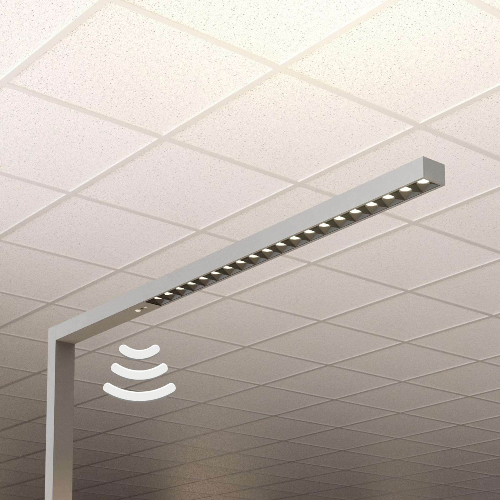 LED-gulvlampe til kontor Laris, sølv, 4000 K