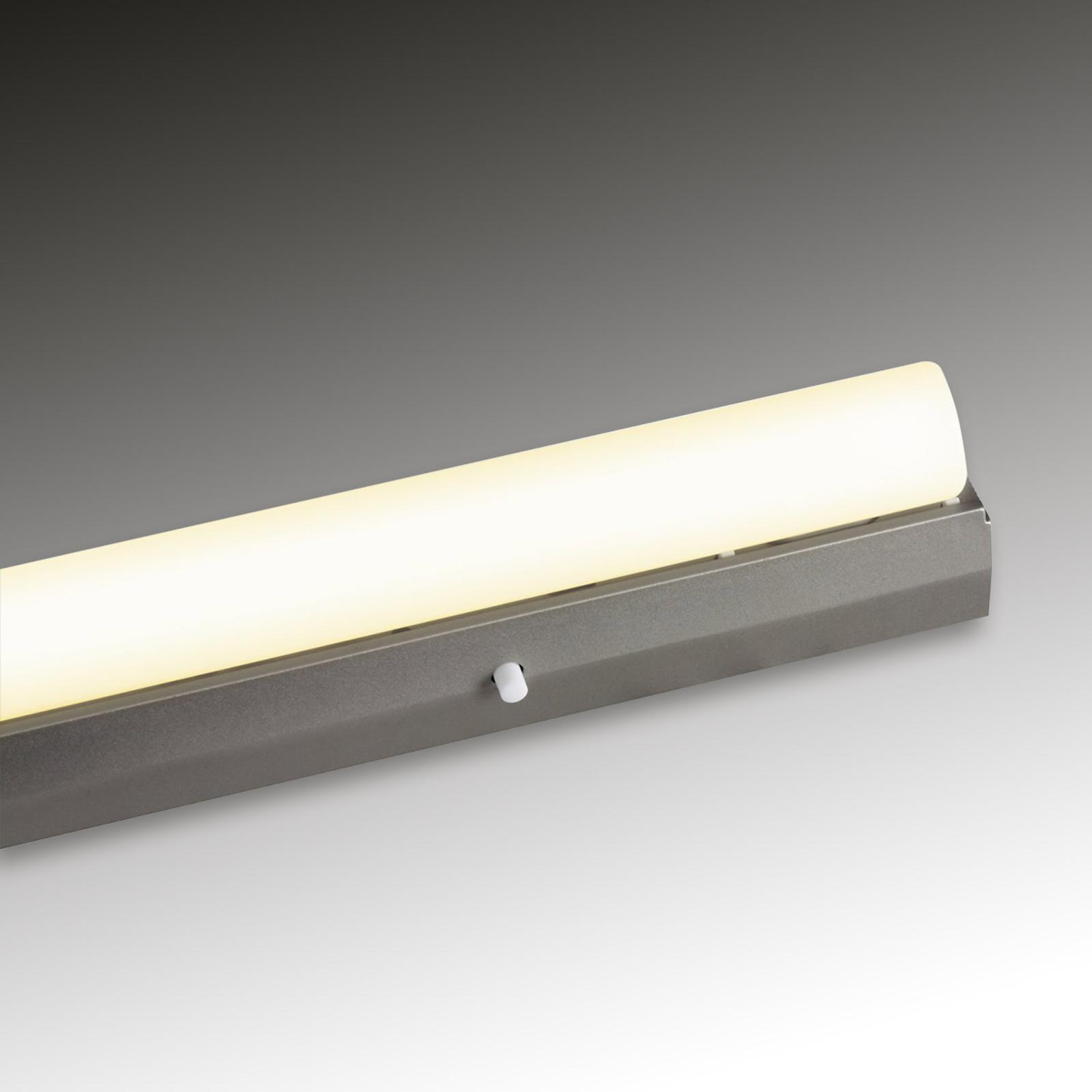 Sølvfarget lyslist vegglampe 60 W