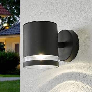 Grijze LED buiten wandlamp zonne-energie Melinda