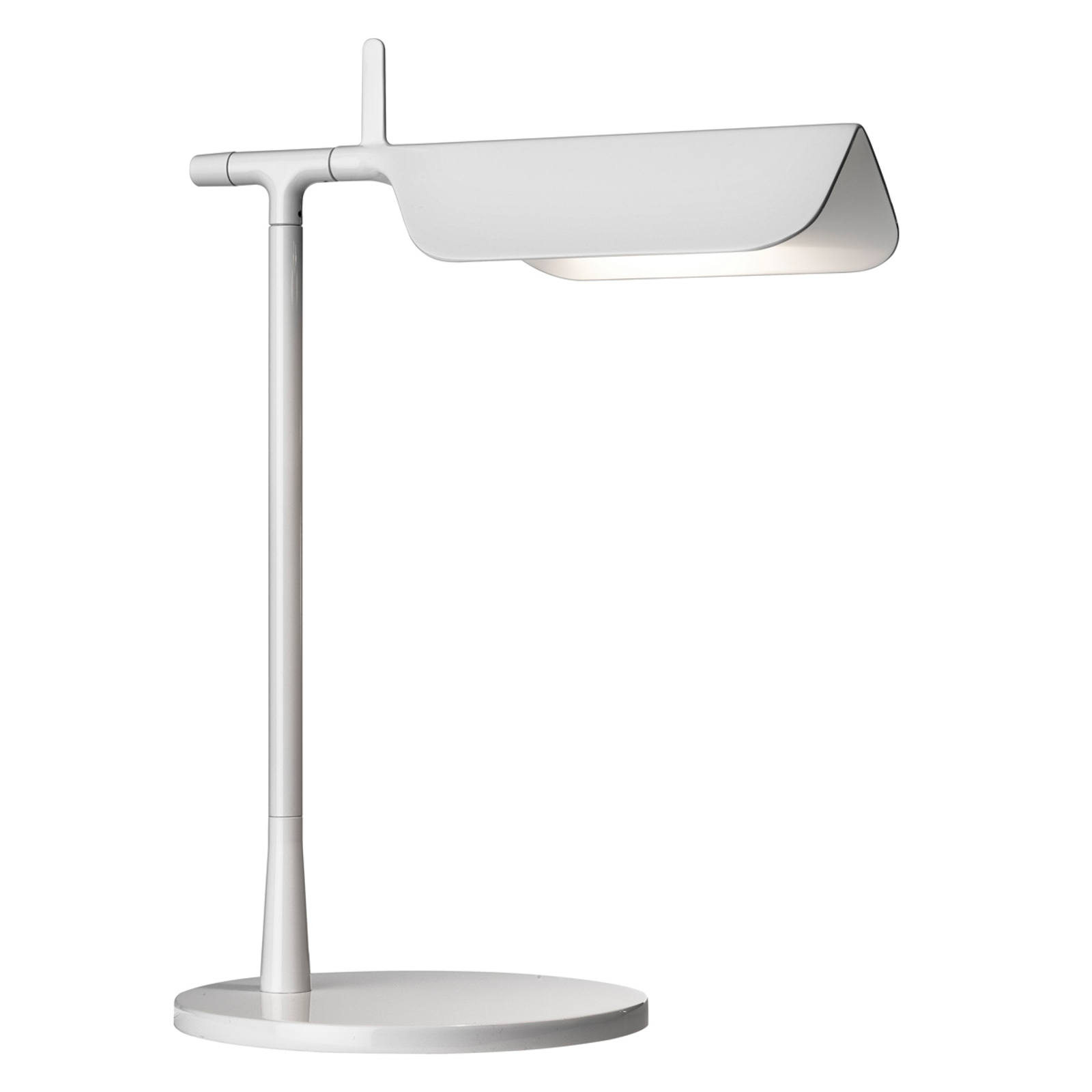 Lampe à poser innovante LED TAB T blanche