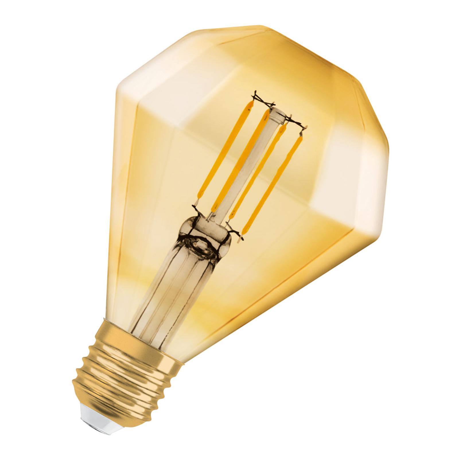 OSRAM LED-Lampe E27 4,5W Vintage Diamond 825 gold