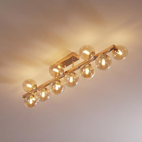 Plafonnier Dallas doré à 13 lampes