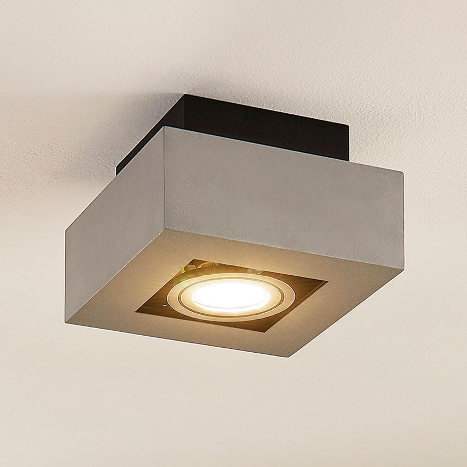 LED-taklampe Vince av aluminium