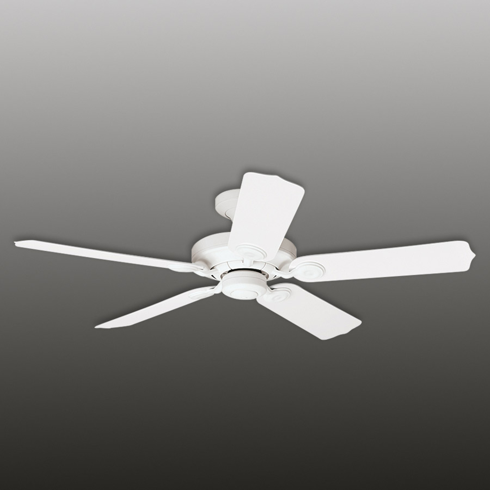Biely stropný ventilátor Outdoor Elements IP44