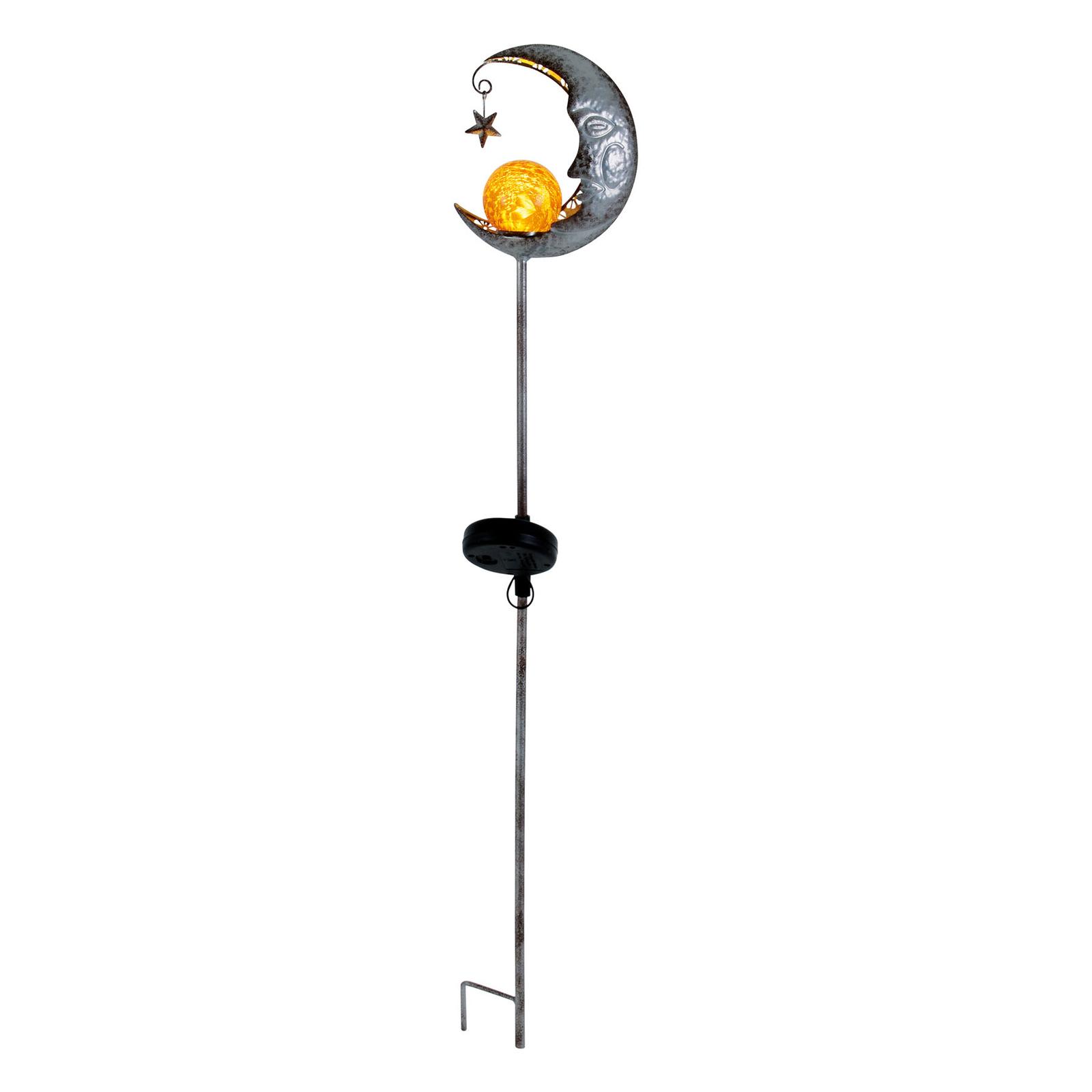 LED-solcellelampe Mond