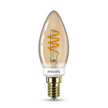 Philips Classic B35 LED-Kerzenlampe gold E14 3,5W