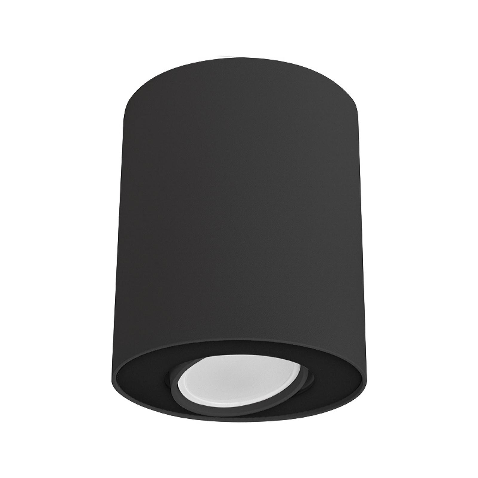 Deckenleuchte Set, schwenkbar, schwarz