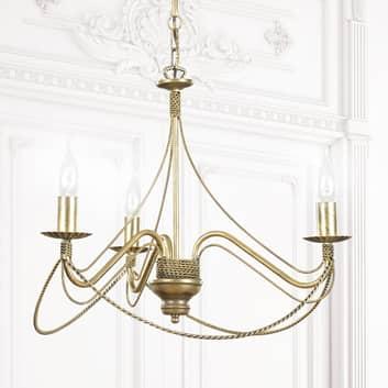 Ljuskrona Tori 3, 3 lampor, guld