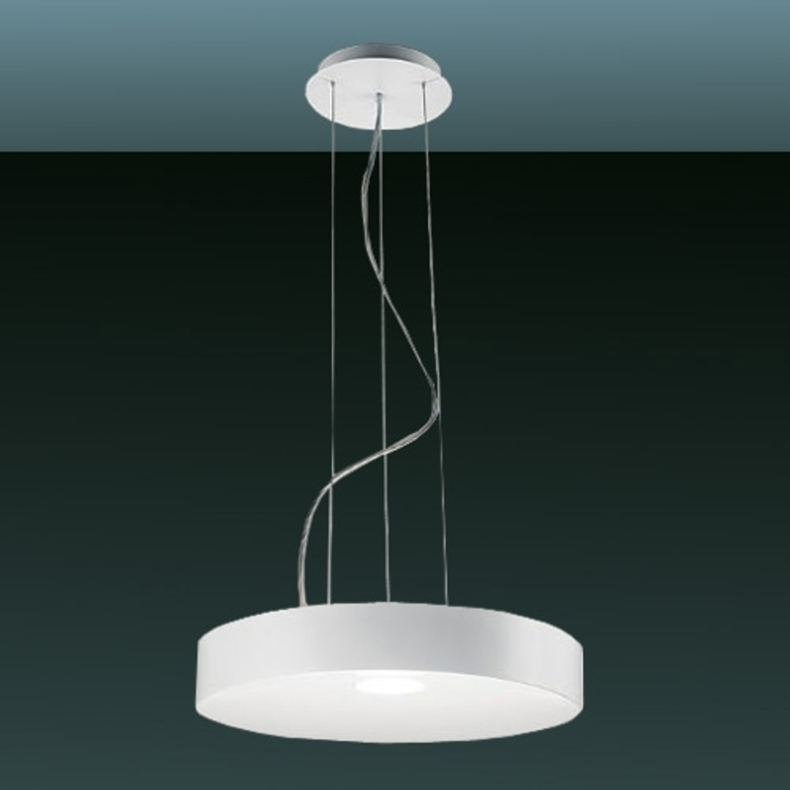 Led-hanglamp CRATER, 21W, mat wit