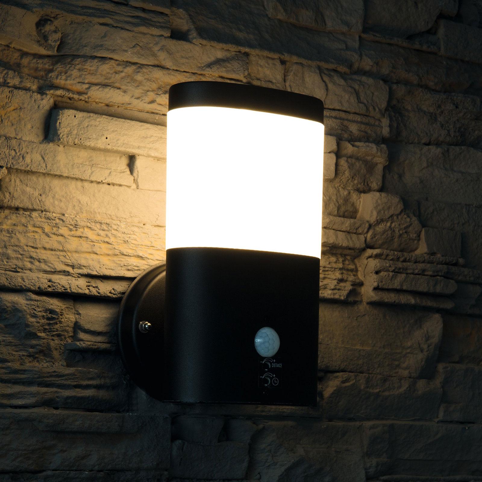 LED buitenwandlamp Camella RVS met sensor