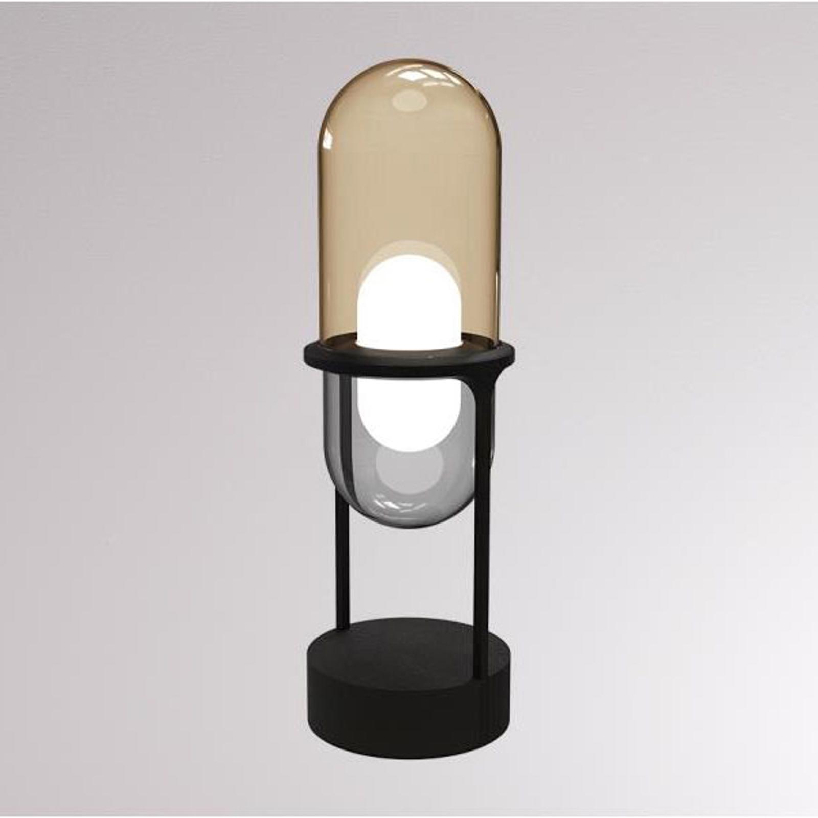 LOUM Pille LED-bordslampa champagne/grå