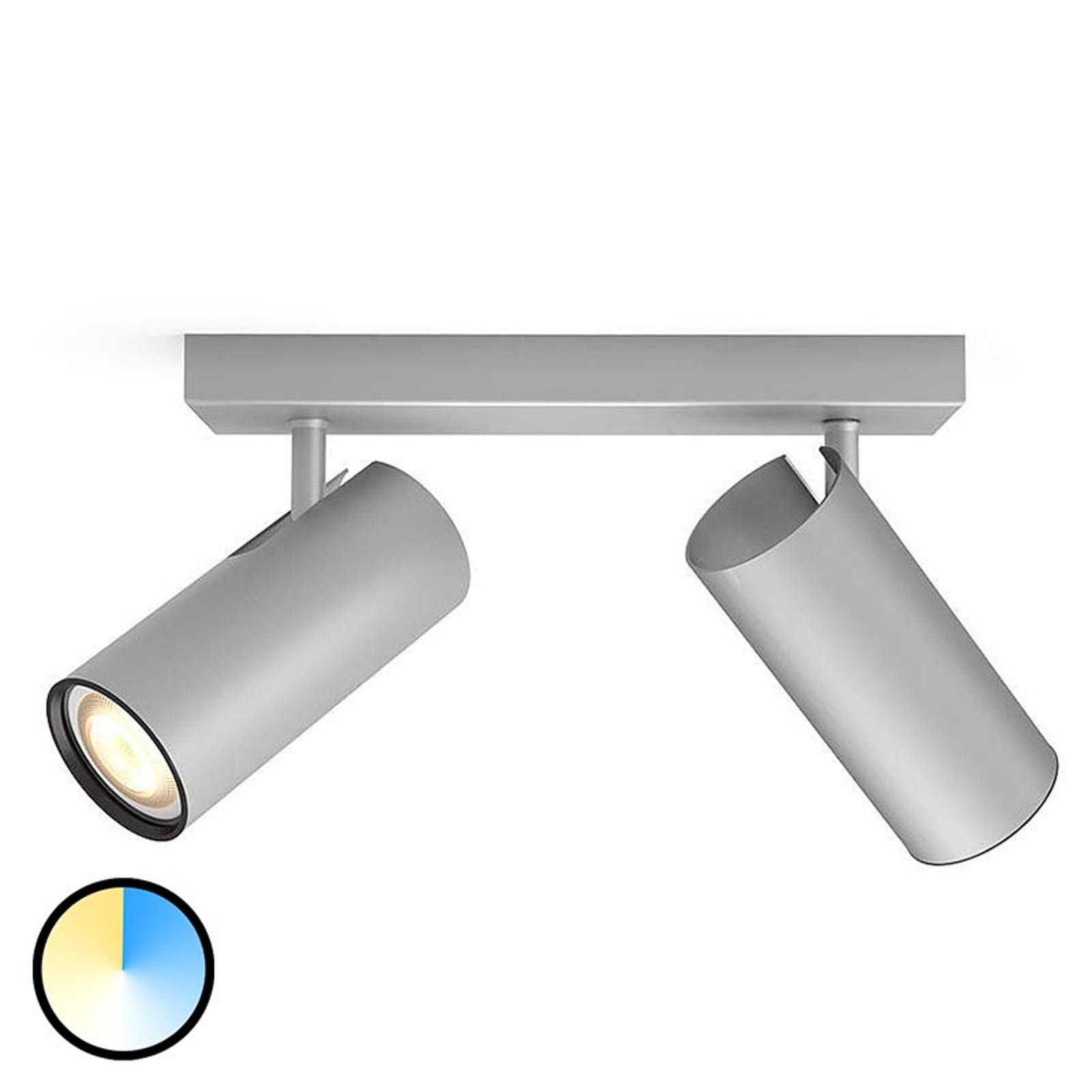 Philips Hue Buratto spot LED alu 2l. variateur