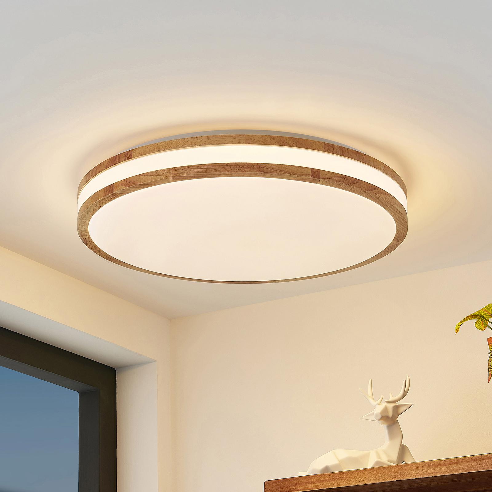 Lindby Emiva -LED-kattovalo, valonauha keskellä