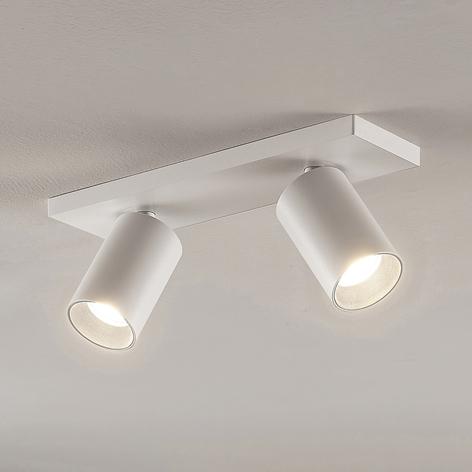 Spotlight Brinja, GU10, vit, 2 lampor