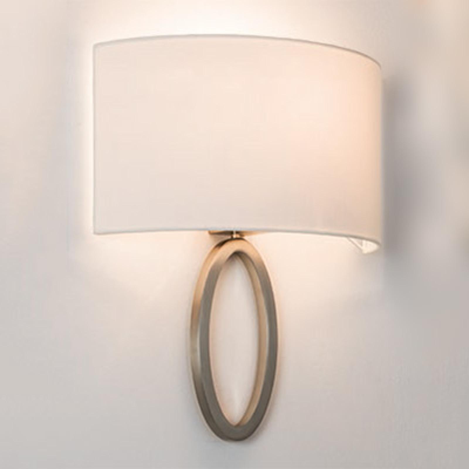 Elegant fabric wall light Lima in white_1020521_1