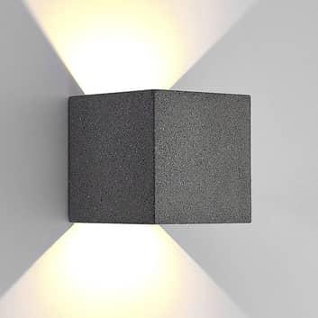 Lucande aplique LED de exterior Naja, hormigón