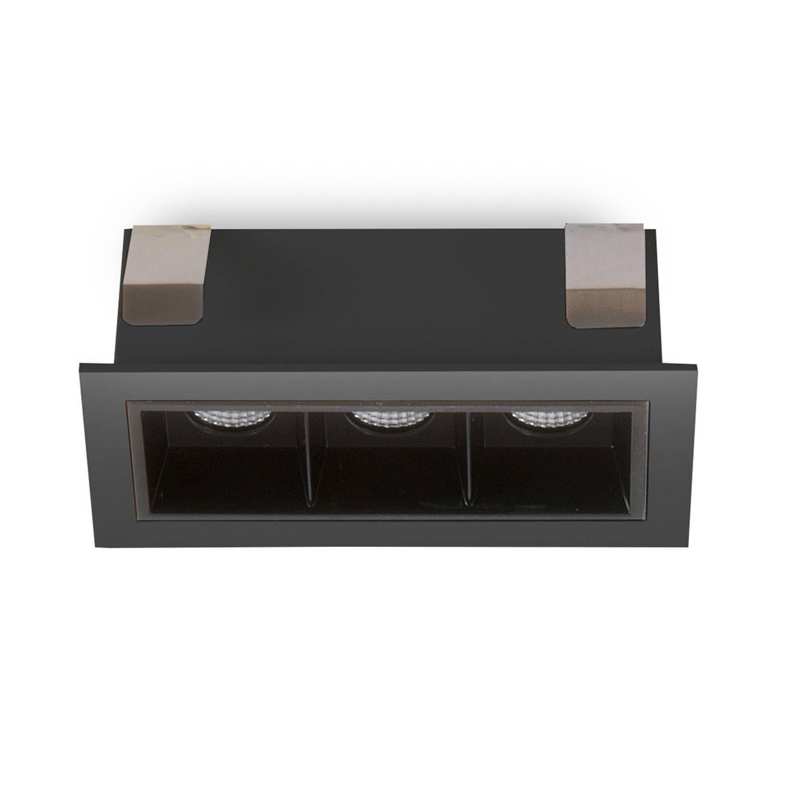 LED inbouwspot Sound 3 30° met frame, zwart