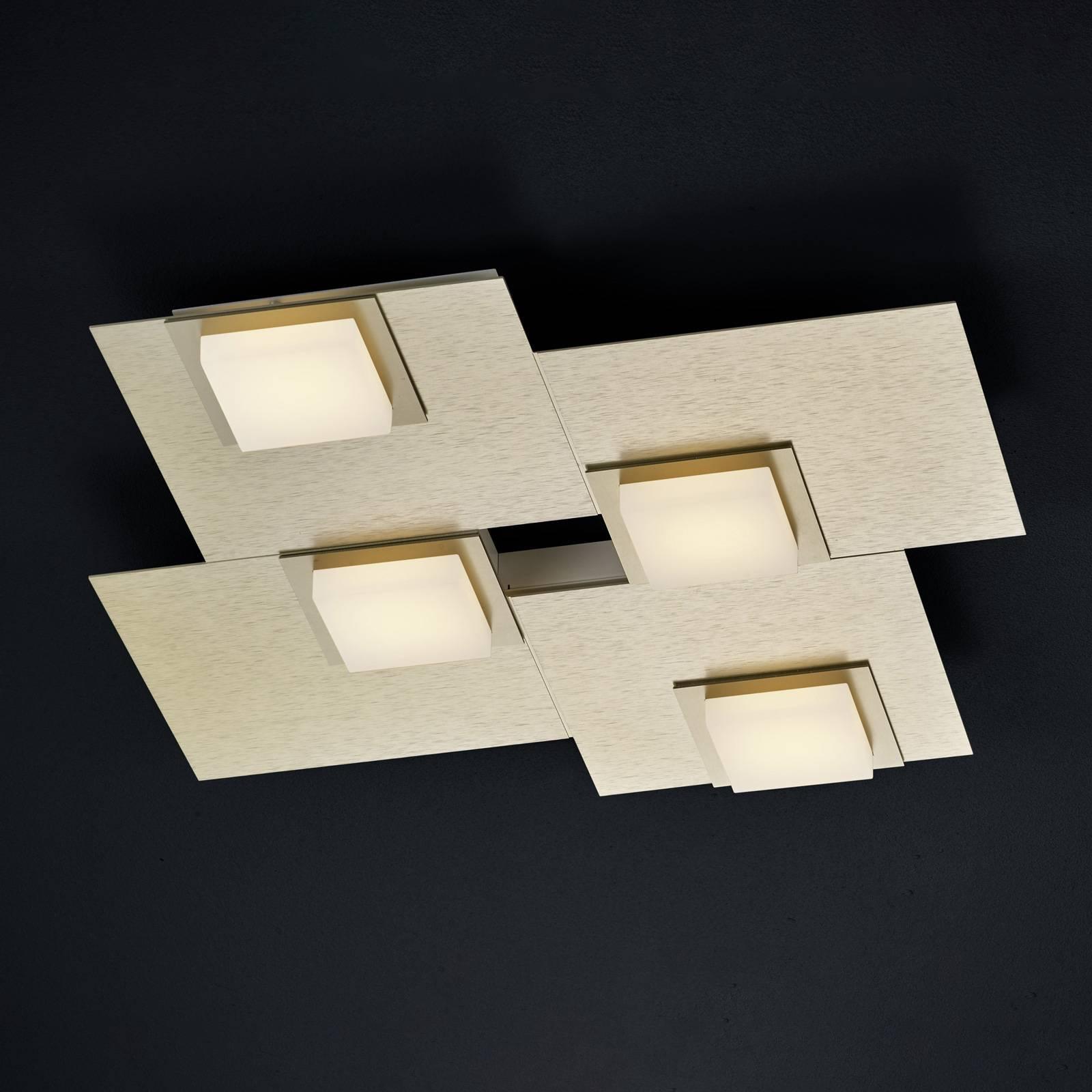 BANKAMP New Quadro plafondlamp 4-lamps champagne