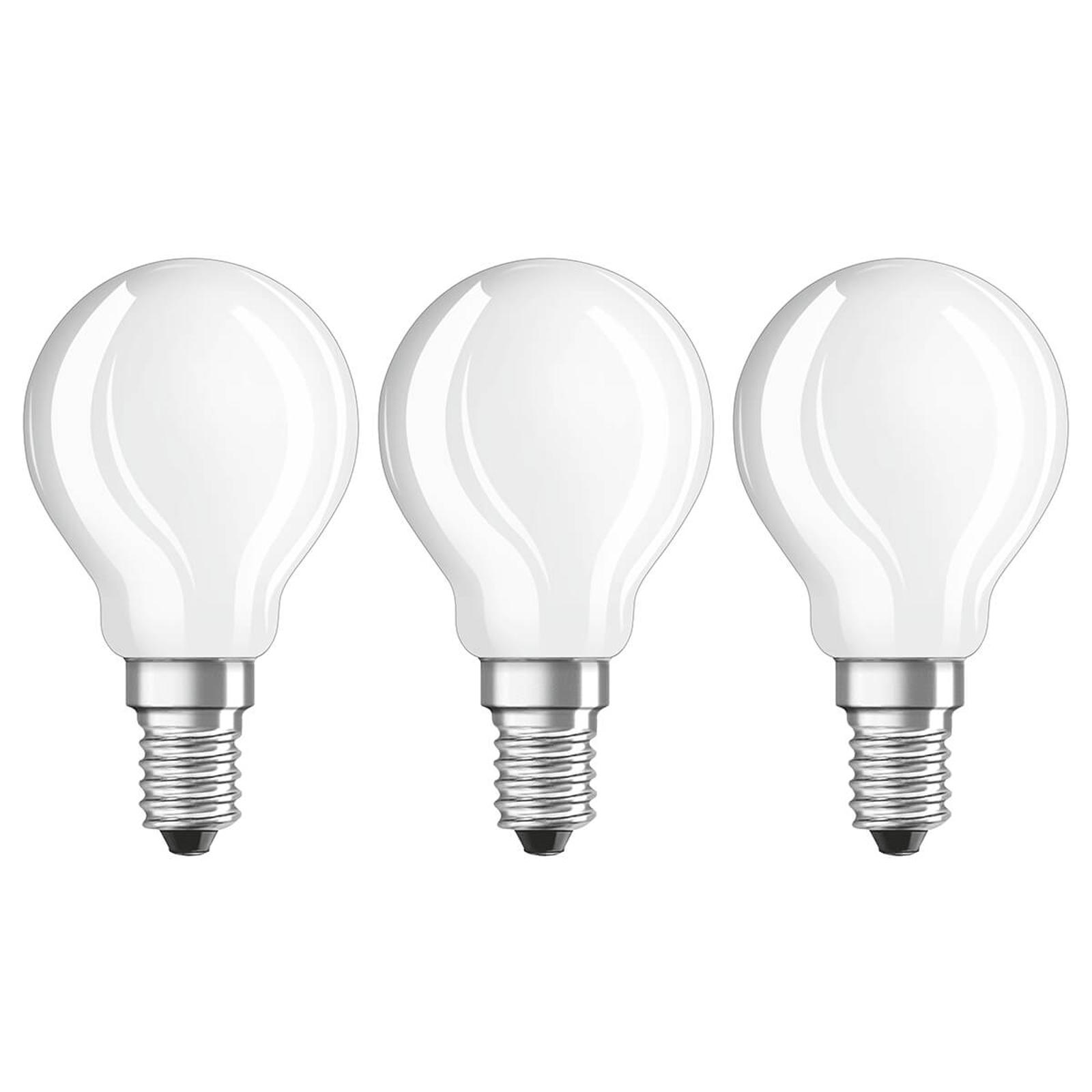 LED-Lampe E14 4W, warmweiß, 470 Lumen, 3er-Set