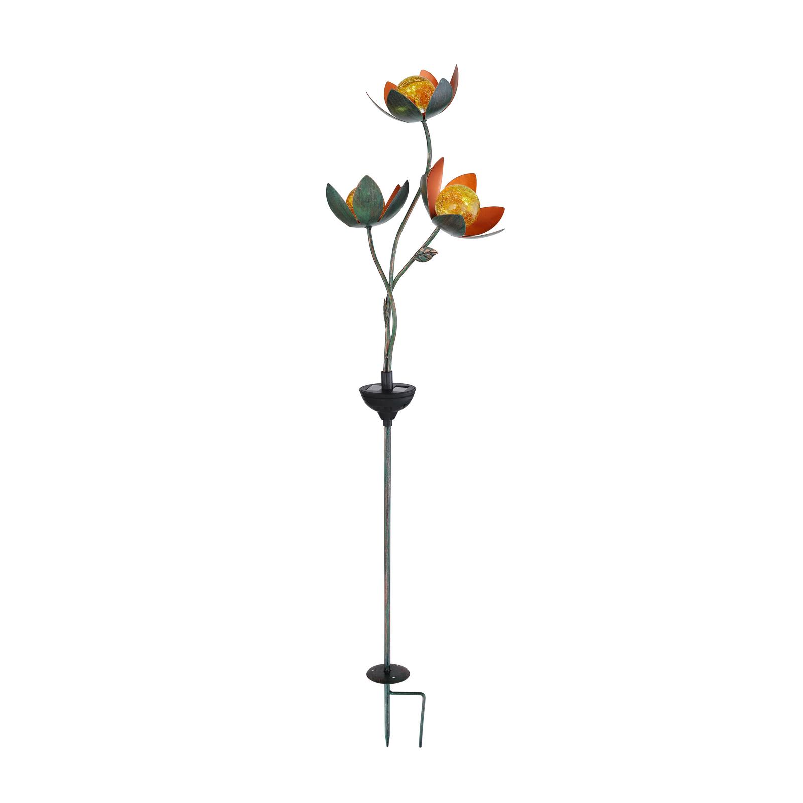 Solcelle-dekolampe 33654 jordspyd 3 blomster