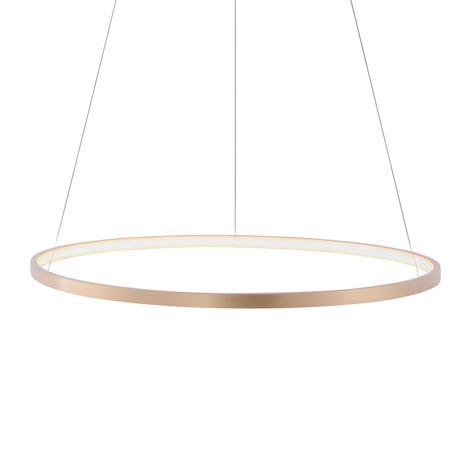 LED-pendellampe Circle gull, Ø 60 cm