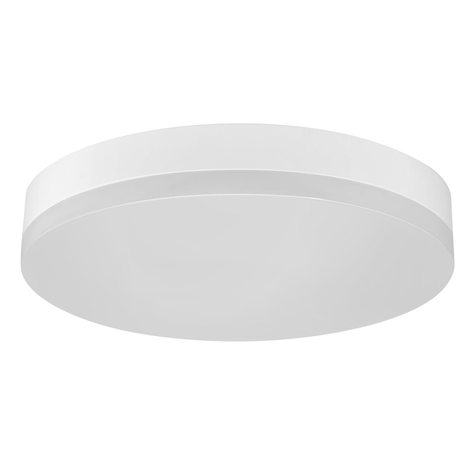 Office Round - LED-taklampe IP44, varmhvit
