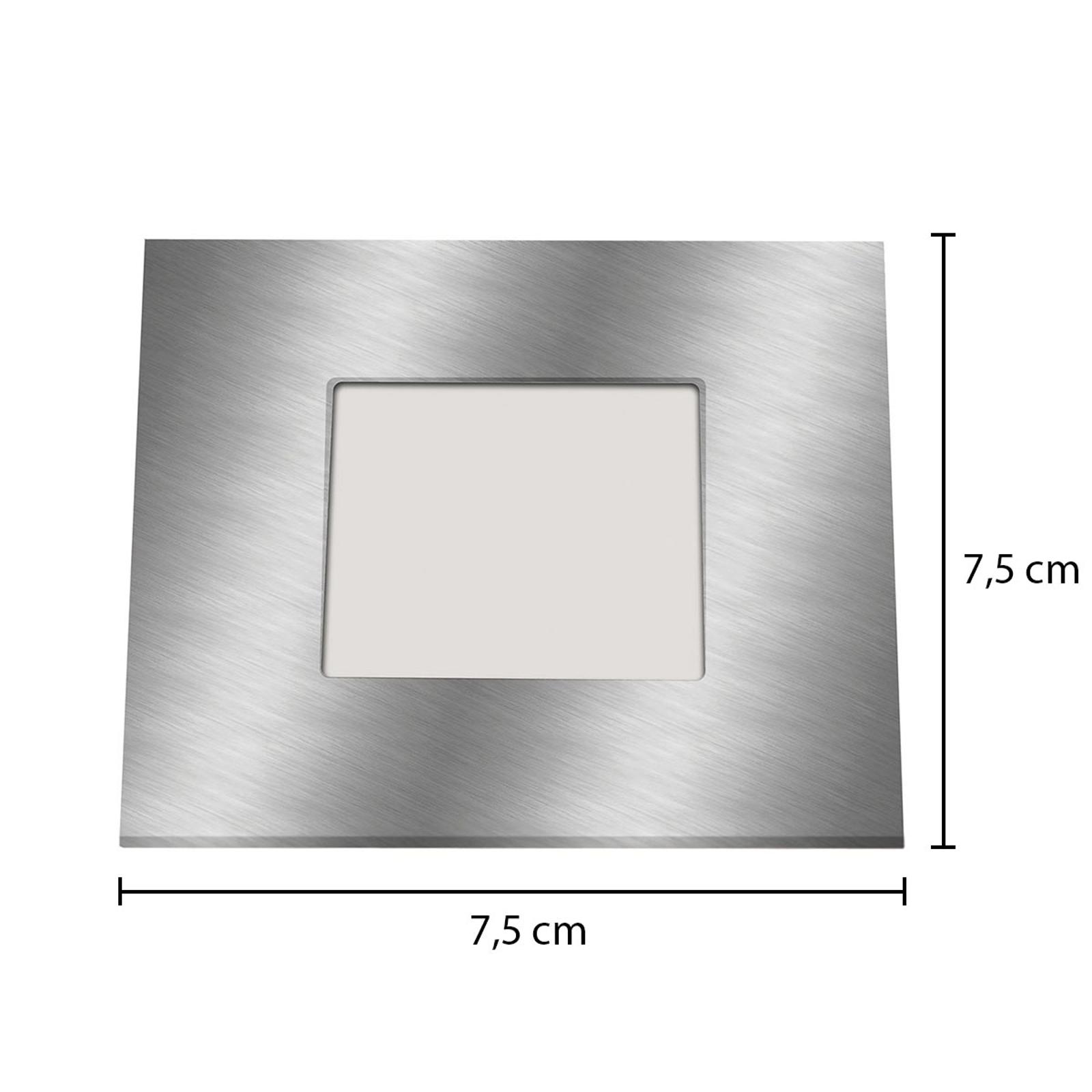 LED innbyggingslampe for innbyggingsboks, sølv