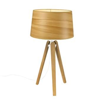 Tafellamp Essence LT, lampenkap in houtoptiek