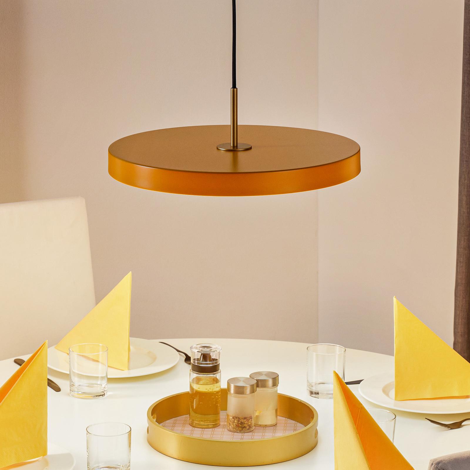 UMAGE Asteria medium lámpara colgante azafrán