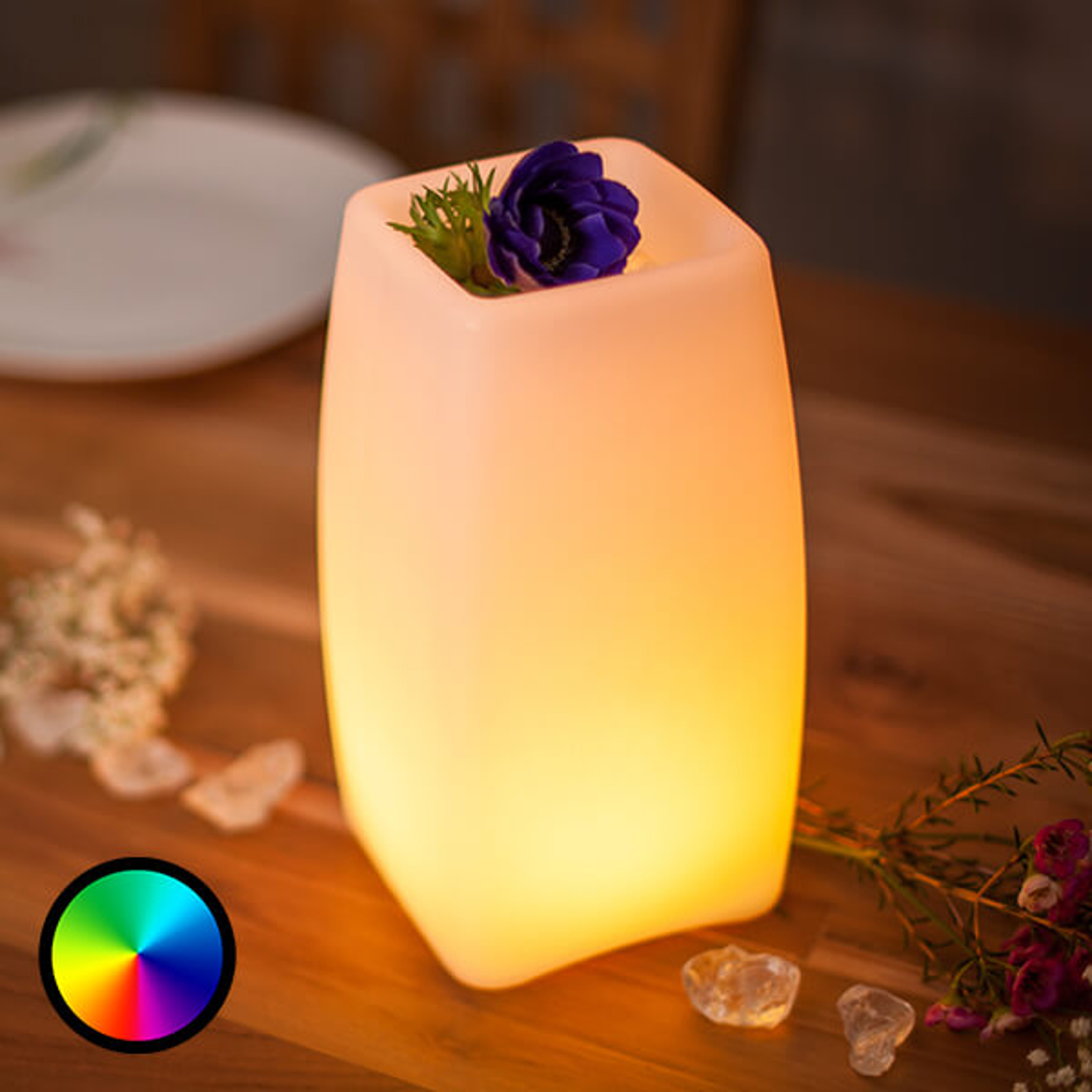 Lámpara mesa LED Stele control aplicación, batería