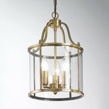 Suspension Rieka 25 cm, en forme de lanterne ronde