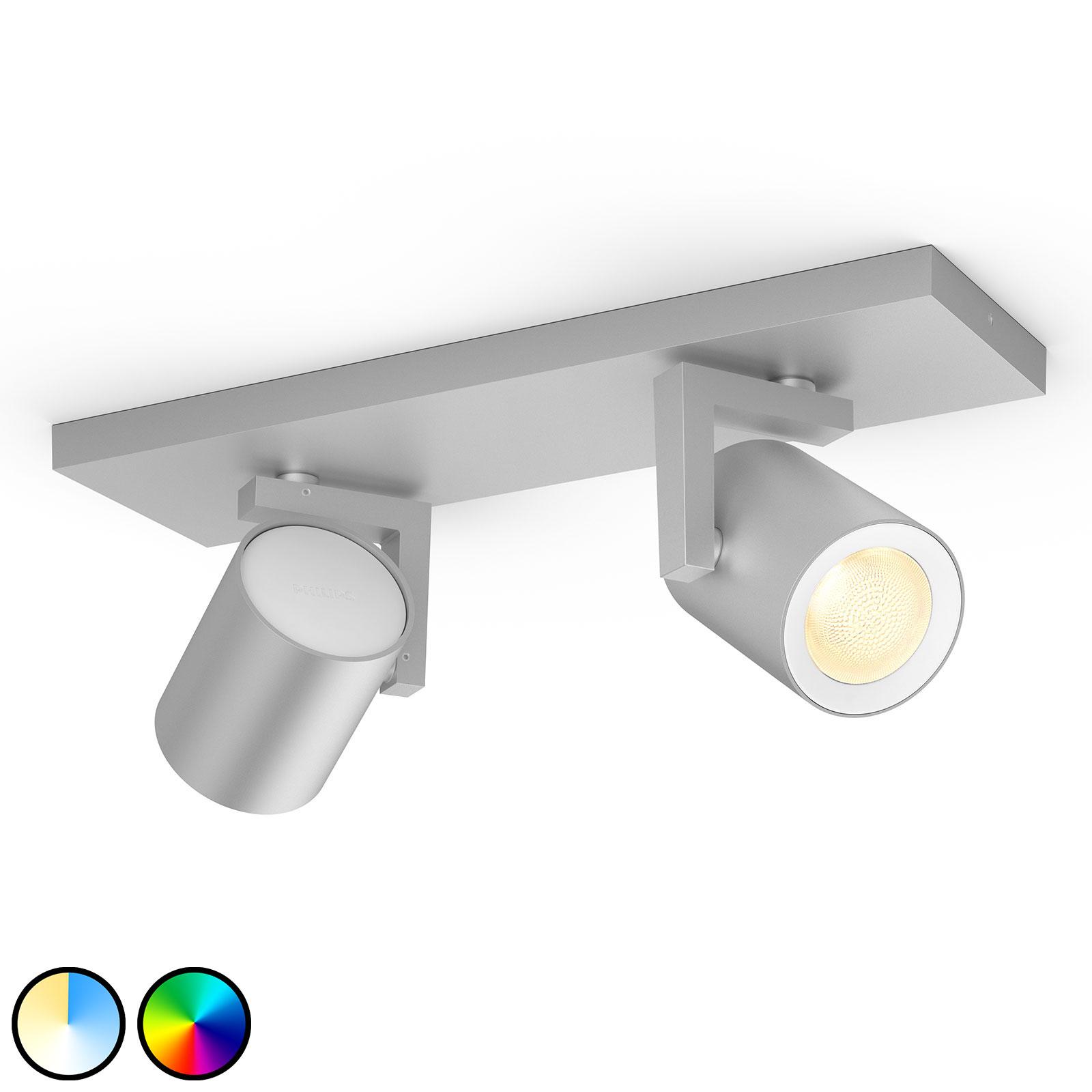 Philips Hue Argenta foco LED, 2 luces, aluminio