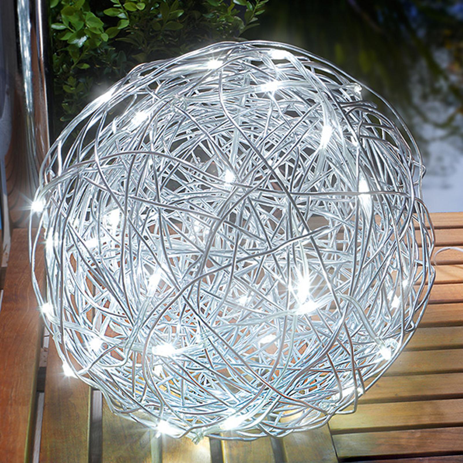 Lampada da esterni deco a LED solare Alu-Wireball